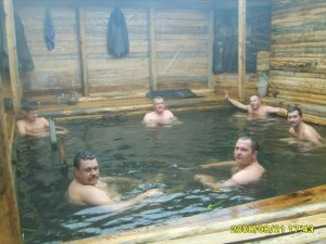 Relax in the hot springs